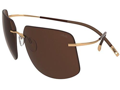 7a349fb4a0 Silhouette Sunglasses Titan Minimal ART The Icon 8698 medium to large fit  (gold shiny