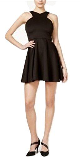 Fit III Bar Dress amp; Women's Flare Black Scuba rErqxRwd