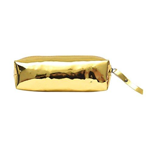WILLTOO Unisex Shoulder Bag Leather Zipper Cosmetic Bag Handbag Makeup Pouch (Rose ()