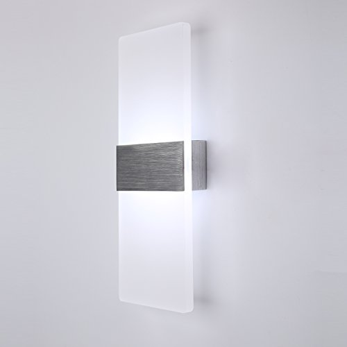 Topmo Modern Acrylic 12w LED Wall Sconces Aluminum Lights Decorative Lamps Night Light for Pathway, Staircase, Bedroom, Balcony ,Drive Way,cold white 840LM(6000K)29114.8CM by topmo (Image #1)