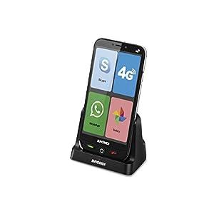 Brondi Amico Smartphone 4G Telefono Cellulare per Anziani GSM DUAL SIM con Tasti Grandi, Funzione SOS, Controllo Remoto… 4
