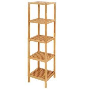 Slat Pattern Eco Wood Tower (Wood Slat Shelves)