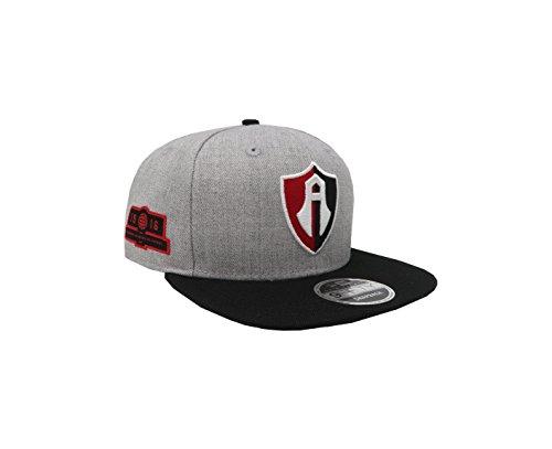 Amazon.com  New Era 9Fifty Hat Guadalajara Atlas F.C. Soccer Club Liga MX  Retro Gray Snapback  Clothing 68d7fa716d5