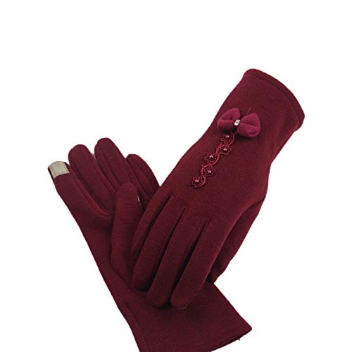 URIBAKE ❤ Women's Thermal Gloves Full Finger Soft Cotton Touch Screen Thick Mitten Wrist Arm Warmer