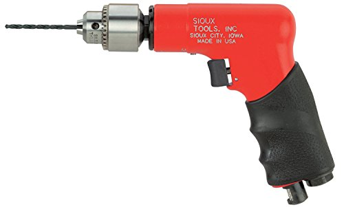 (Sioux Tools 1410 - Air Drill or Driver - Not Reversible, Pistol Grip Handle, Chuck Size 1/2 in, 13 mm, Horsepower 0.33 hp, 2600 rpm Maximum)