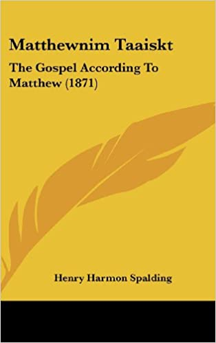 Matthewnim Taaiskt: The Gospel According To Matthew (1871)