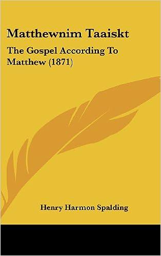 Matthewnim Taaiskt: The Gospel According To Matthew (1871)