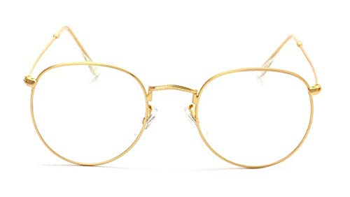 06a04f6de Large Oversized Metal Frame Clear Lens Round Circle Eye Glasses ...