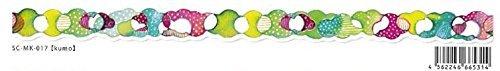 Roundtop Designer's Washi Masking Tape 15mm x 10m, Space Craft Decoration, Kumo (SC-MK-017)
