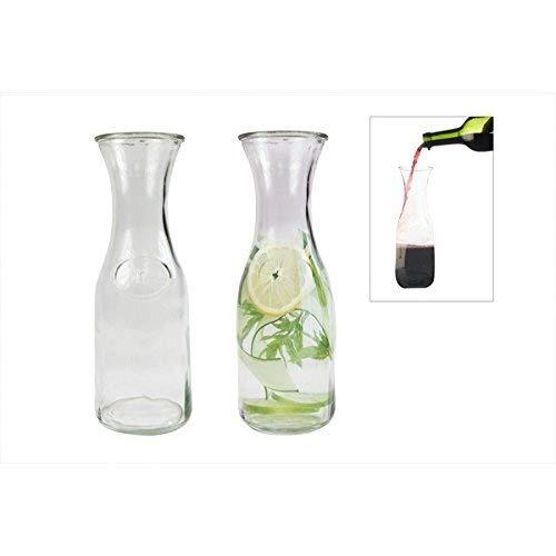 Carafe Glass Decanter Carafe Water Jug Juice Jug Wine Bottle Carafe 500ml Embossed RSW