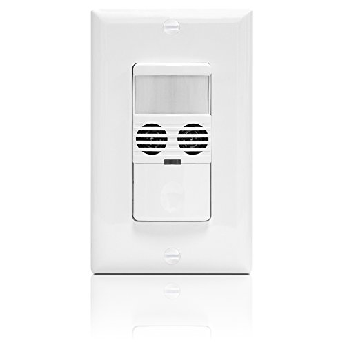Enerlites MWOS-W Motion Sensor Switch, Ultrasonic and PIR Dual Technology,  Occupancy Sensor, Motion Sensor Light Switch, NEUTRAL WIRE REQUIRED, Wall