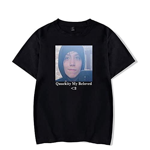 Quackity Mijn Geliefde Merch T-Shirt Zomer Casual Mode Gedrukt Harajuku Katoen en Polyester Korte Mouwen Top Losse Tee