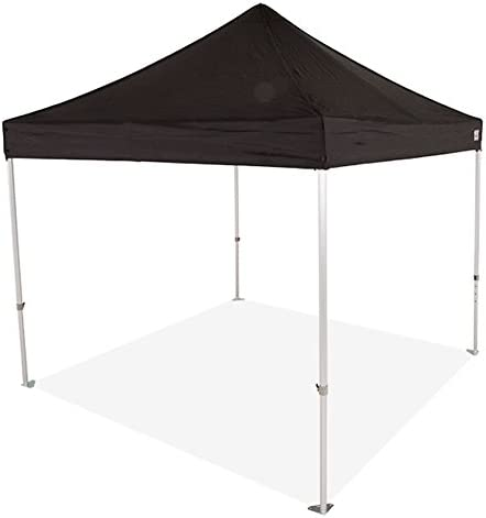 Impact Canopy 10 x 10 Pop-Up Canopy Tent, Powder-Coated Steel Frame, Straight Leg, Roller Bag, Black