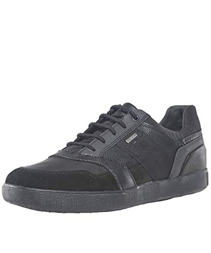 Geox Men's Leather Taiki B ABX Trainers Black UK 9 ()