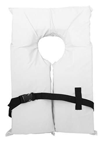 Hardcore Water Sports Type II White Life Jacket Vest – Adult Universal Boating PFD