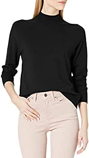 Amazon Brand - Daily Ritual Women's Fine Gauge Stretch Mockneck Pullover Swe