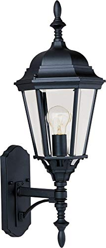 - Maxim Lighting 1003BK, Westlake Cast Outdoor Wall Lantern, Black