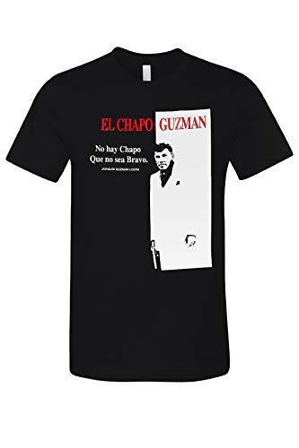 Doby El Chapo Scarface Parody Vintage Graphic Printed Men's Casual T-Shirt Black XL ()