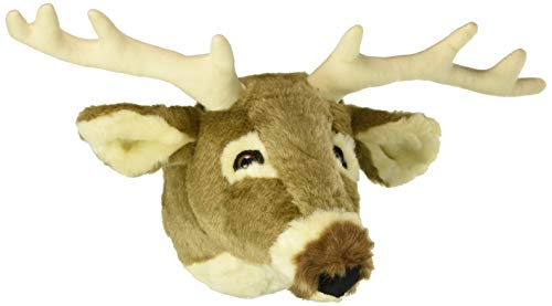 Carstens, Inc Plush Animal Wall Décor Friendly Faces Mini White Tail Deer Trophy Mount ()