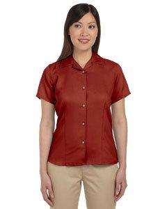 Harriton Ladies' Bahama Cord Camp Shirt 2XL Tile Red
