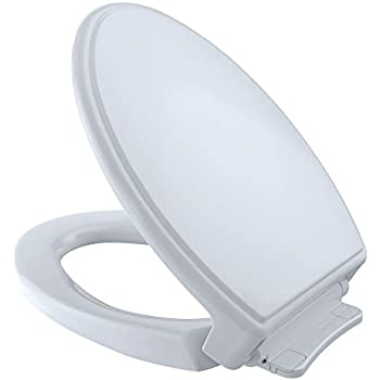 Toto SS114 01 SoftClose Elongated Toilet Seat Cover, Cotton