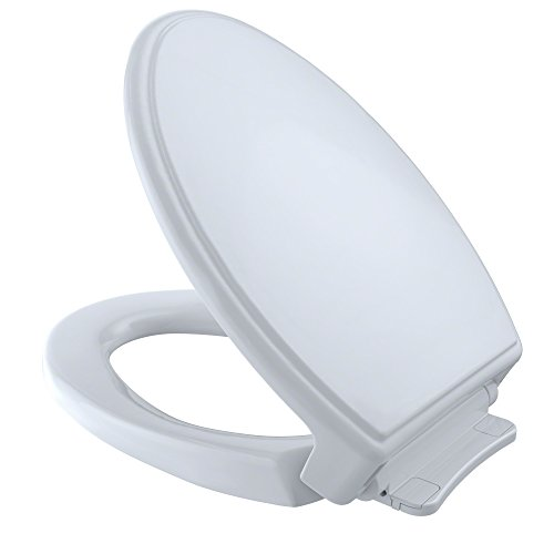 TOTO SS154#01 Traditional SoftClose Elongated Toilet Seat, Cotton White (Gpf 6 Bone)