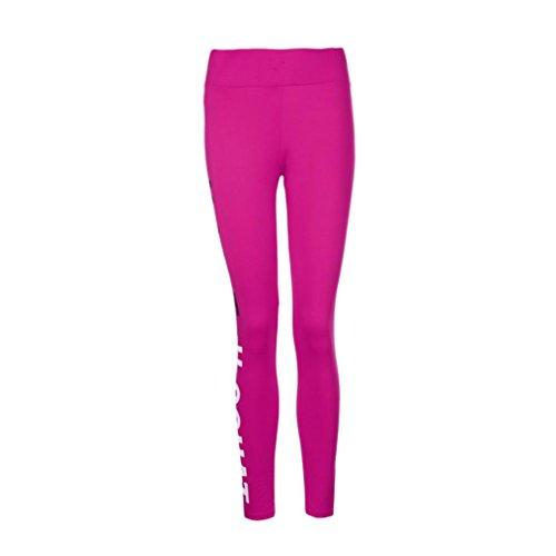 Fiaya Women's Life SQUAT Workout Leggings Fitness Sports Gym Running Yoga Athletic Pants (Medium, Hot Pink)