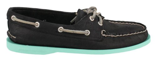 Sperry Top-sider Mujer Original Authentic Two-eye Boat Black / Jade