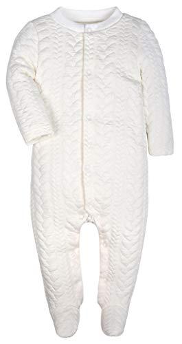 (Baby Boys Girls Warm Long-Sleeve Footed Pajamas Sleeper Rompers(White Stripe,18-24M))