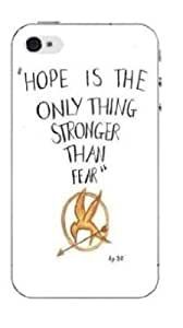 Hunger Games Hope Is The Only Thing Stronger Than Fear Apple iPhone 4 / 4S Silicone Case - Black