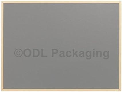Blue Felt Notice Board Wooden Frame 900x600mm