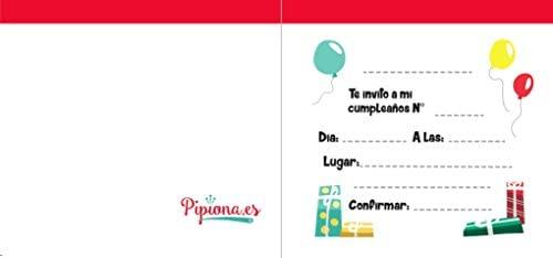 Pipiona.es Invitaciones DE CUMPLEAÑOS: Amazon.es: Juguetes y ...