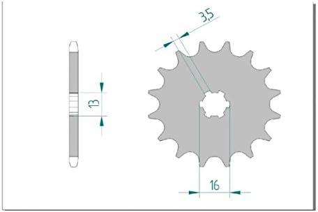 AFAM Kettensatz ALU standard verst/ärkt f/ür Yamaha DT 50 M Bj 1980-1984 2M4