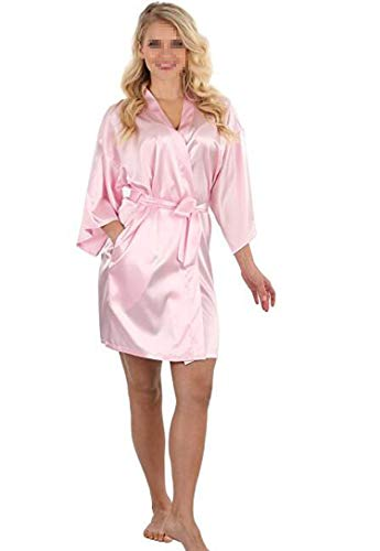 WomenSatin Robe Lace Bathrobe Wedding Bride Bridesmaid Robes Dressing Gown,As The Photo show12,XL (Bath Bed Beyond Kelowna And)