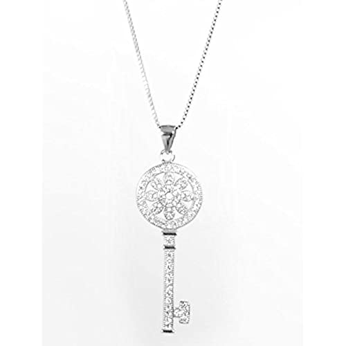 Tiffany necklace amazon sterling silver necklaces for women desen key pendantsterling silver necklaces for women desen key pendant sterling aloadofball Images