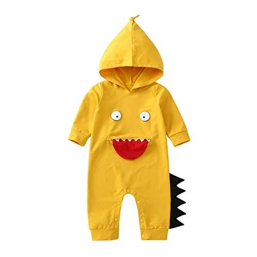 Newborn Autumn Cartoon Jumpsuit,Jchen(TM) Infant Toddler Baby Boys Girls Long Sleeve Hoodie Blame Little Monster Romper Jumpsuit for 0-24 Months (Age: 0-6 Months) by Jchen Baby Sets