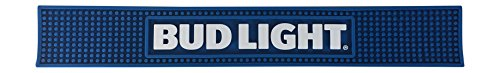 Bud Light Beer Professional Bar Mat Spill Mat Rail Drip Mat