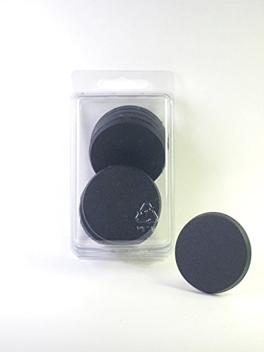 Value Pack of 10 - 50MM Round Black Miniature Model Bases for TableTop or Miniature WarGames]()