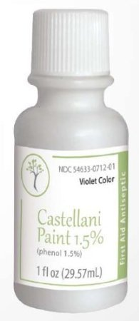 Castellani Paint Phenol 1.5 Percent Modified Violet Color First Aid Antiseptic Agent - 1 Oz by Castellani Paint
