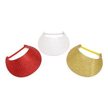 Darice 106-1560 Foamies Visor W.Vinyl Coil Gold.Red.White 3Ast