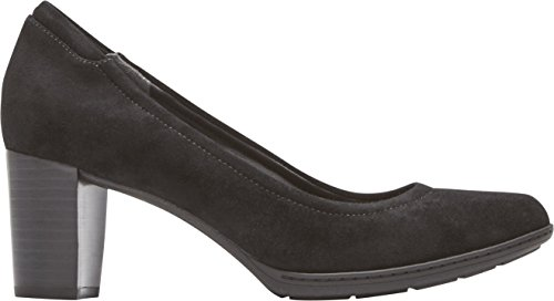 Rockport Women's Tf Chaya Pump Shoes Black Suede fu1lYdLLo