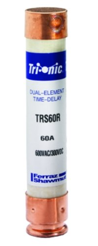 Mersen TRS60R 600V 60A 5 0.5X1 1/16 Time Delay Fuse, 10-Pack by Mersen