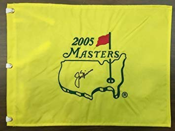 Jack Nicklaus Autographed Signed 2005 Masters Pin Flag - PSA/DNA Full ()