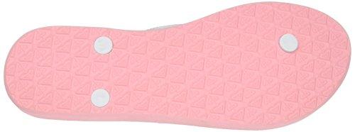 Roxy Bermuda, Tongs Femme, Black/White Print, 36.5 EU Rose (Light Pink Ltp)