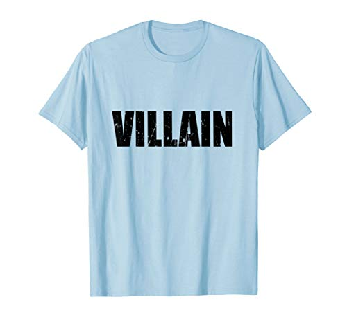 Villain T-Shirt Halloween Costume Funny Cute Distressed -