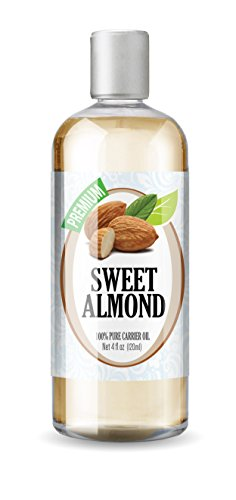 Healing Solutions Premium Therapeutic Grade Sweet Almond Oil, 4 Fluid Ounce