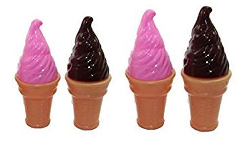 Dazzling Toys Yummy Ice Cream Bubbles Contains Bubble Solution 4 Pack