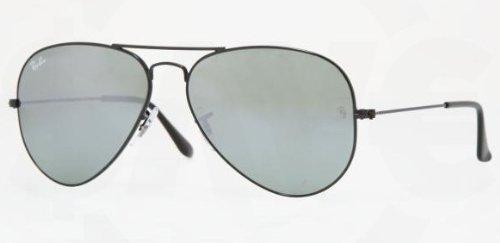 Ray Ban RB3025 Aviator Sunglasses-002/40 Black (Crystal Gray Mirror Lens)-55mm