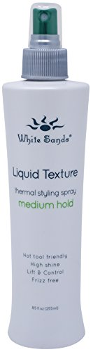 White Sands Liquid Texture Medium Hold, Non-Aerosol Hair Spray. Heat Protection Styling 8.5 Ounce Blow Drying & Styling With Medium Hold.