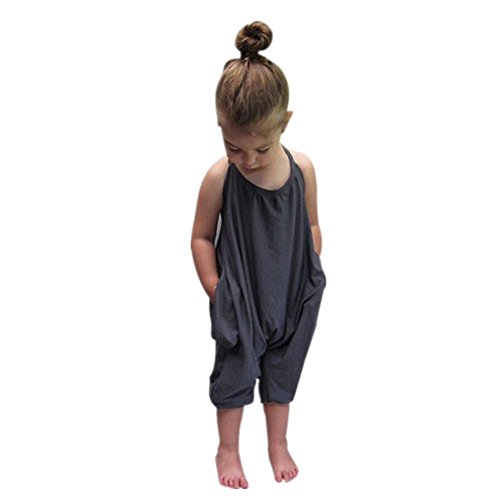 XILALU Toddler Kid Baby Girls Straps Rompers Jumpsuits Piece Pants - Ringer Hood